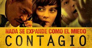 Diseño de Poster con bacterias y hongos para promocionar película Contagion
