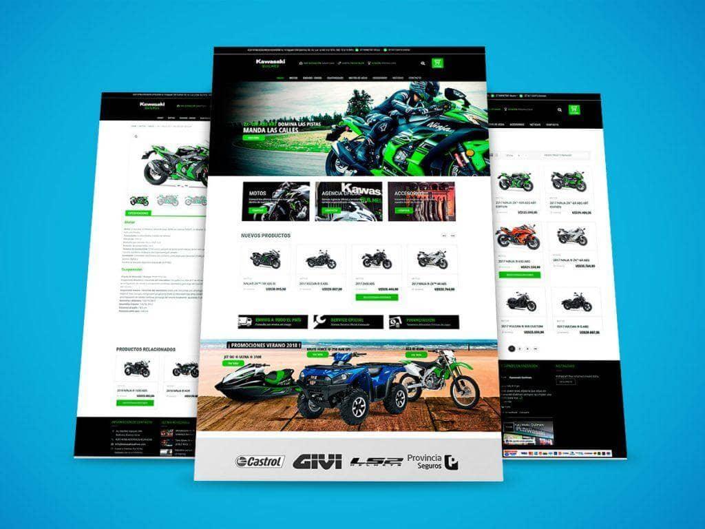 Diseño Web Kawasaki Quilmes