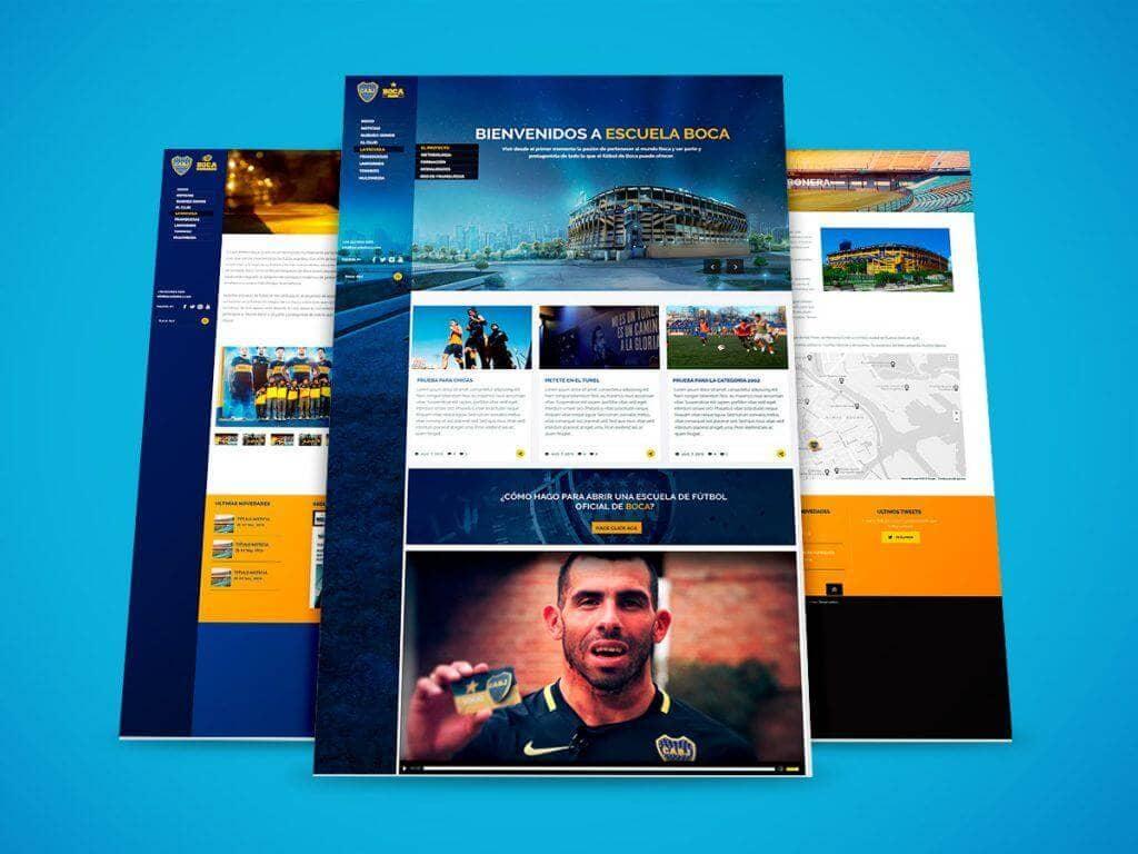 Diseño Web Escuelas Boca Juniors