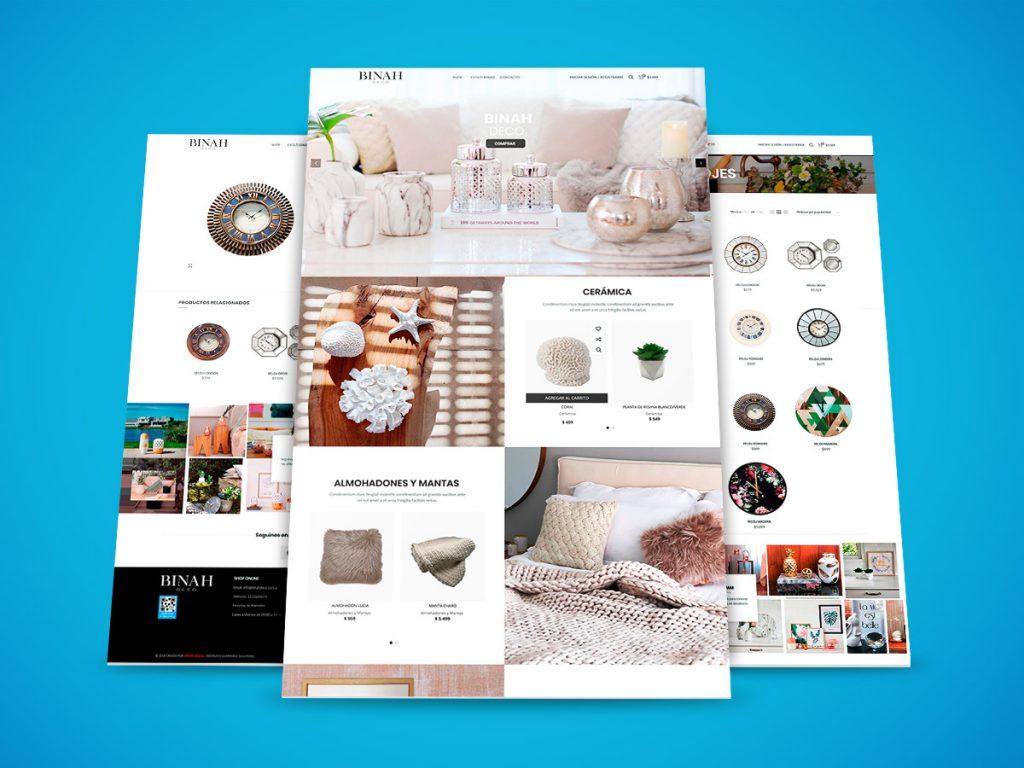 Diseño Web Binah Deco